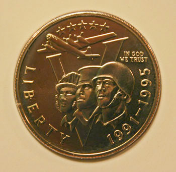 World War II 50th Anniversary Clad Half Dollar Obverse