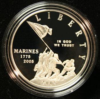 230th Anniversary Marine Marine Corps Commemorative Silver Dollar - obverse