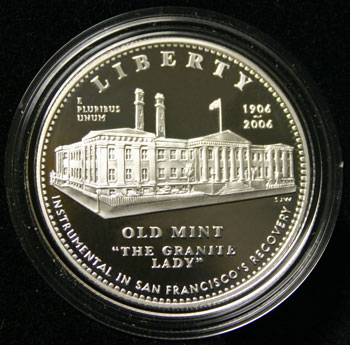 2006 Old San Francisco Mint Proof Silver Dollar Commemorative Coin