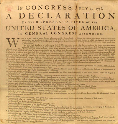 Washington's copy of the Declaration of Independence