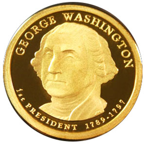 George Washington - Golden Dollar - 2007