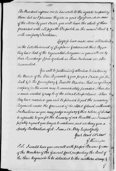 Washington Letter to Gen. Ward 7-9-1776 - page 2