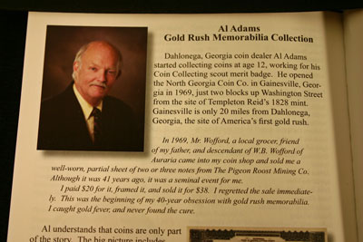 Al Adams Gold Rush Memorabilia