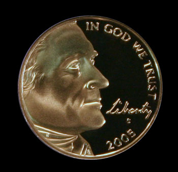 2005 Thomas Jefferson nickel obverse