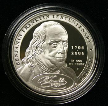 Benjamin Franklin Founding Father Commemorative Dollar obverse