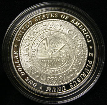 Benjamin Franklin Founding Father Commemorative Dollar reverse