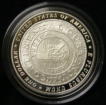 Benjamin Franklin Founding Father Commemorative Dollar reverse