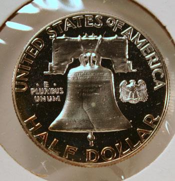 Benjamin Franklin Half Dollar reverse