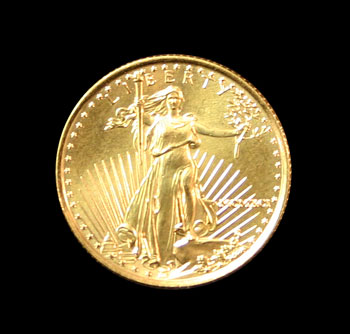 Quarter Ounce American Eagle Gold obverse
