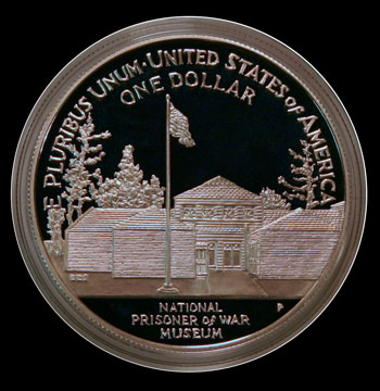 1994 Prisoner of War Commemorative Silver Dollar Reverse