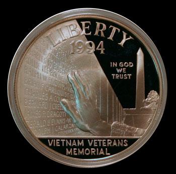 1994 Vietnam Veterans Commemorative Silver Dollar Obverse