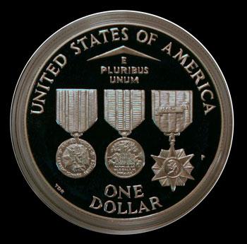 1994 Vietnam Veterans Commemorative Silver Dollar Reverse