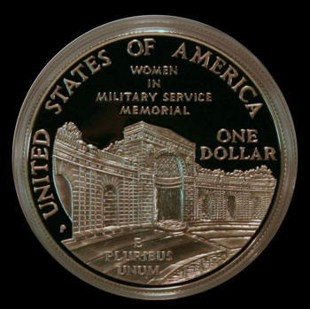 1994 Women in Military Commemorative Silver Dollar Reverse