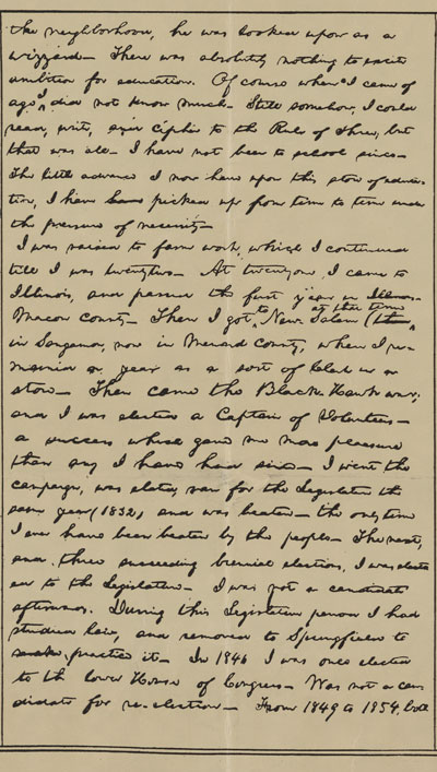 Abraham Lincoln Autobiography 2 of 3