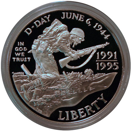 World War II Commemorative Dollar Obverse