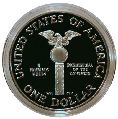 1989 US Congress Commemorative Dollar reverse