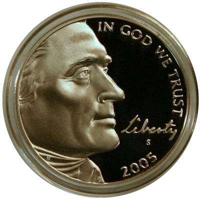 Thomas Jefferson Nickel obverse