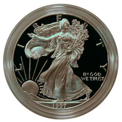 1997 Proof American Silver Eagle Bullion