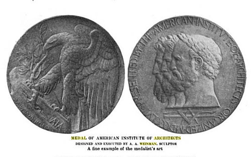 Adolph A. Weinman Medal for American Institute of Architects