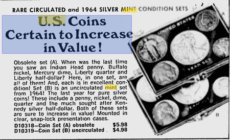 Coin Advertisement for Year Sets