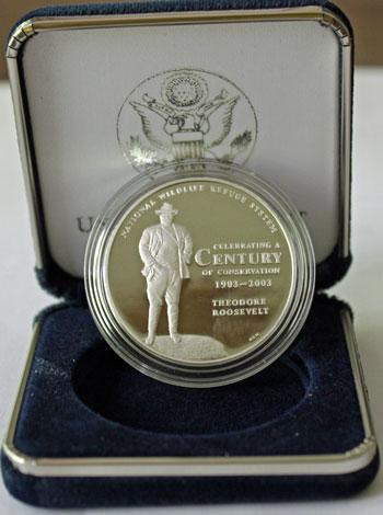2003 National Wildlife Refuge Centennial Medal obverse President Theodore Roosevelt