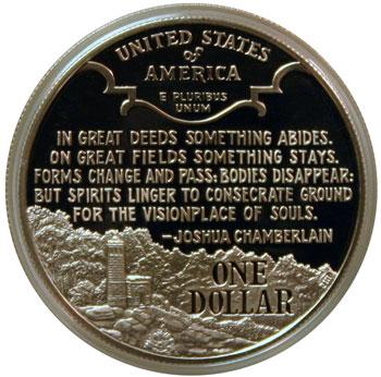Civil War Battlefield Silver Dollar Reverse