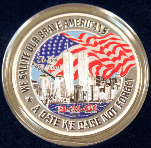 9-11-2001 Official Freedom Medallion obverse image