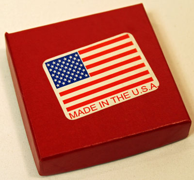 9-11-2001 Official Freedom Medallion outer box with flag on cover