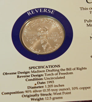 Bill of Rights ANA Freedom Pack half dollar reverse