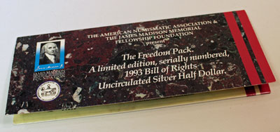 Bill of Rights ANA Freedom Pack half dollar front