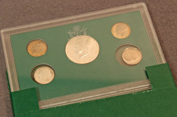1998 Proof Coins Set Four Dimes and a Half Dollar
