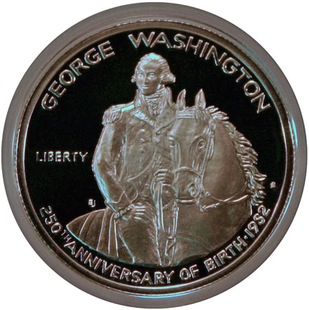 George Washington Commemorative silver half dollar obverse