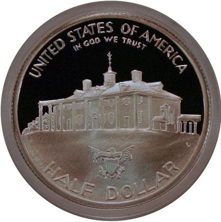 George Washington Commemorative silver half dollar reverse