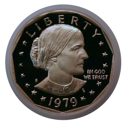 Susan B. Anthony dollar coin obverse