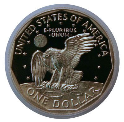 Susan B. Anthony dollar coin reverse