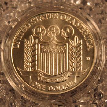 1992 Olympic Baseball Commemorative Silver Dollar reverse