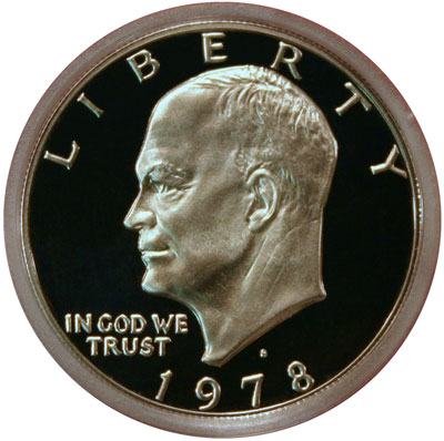1978 Eisenhower Dollar Coin - Obverse