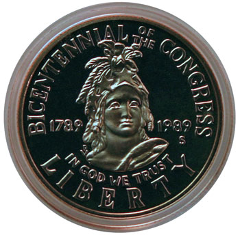 1989 Congress Commemorative Half Dollar obverse