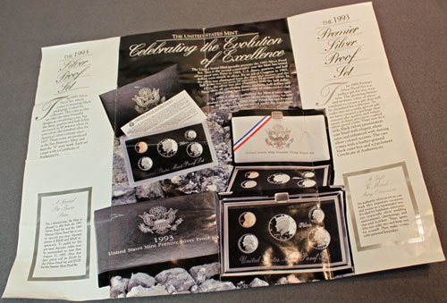 US Mint 1993 Silver Proof Set Brochure contents