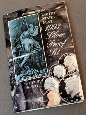 US Mint 1993 Silver Proof Set Brochure front