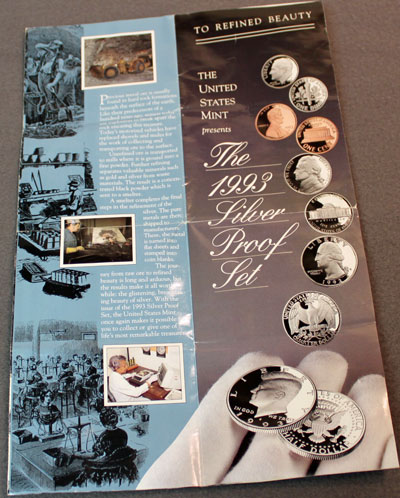 US Mint 1993 Silver Proof Set Brochure To Refined Beauty