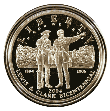 2004 Lewis and Clark Bicentennial Commemorative Silver Dollar