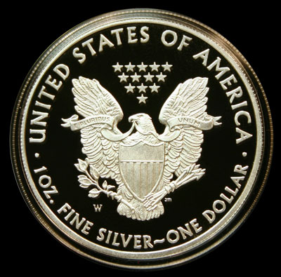 American Eagle Silver Proof Coin 2010 Reverse