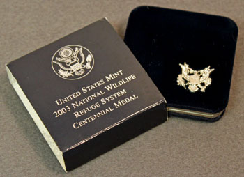 National Wildlife Refuge Centennial Medal 2003 Eagle Outer Box