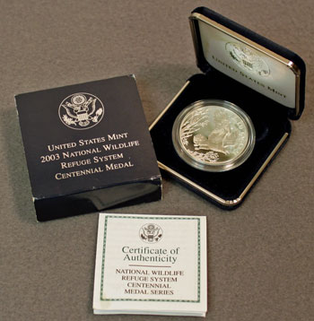 National Wildlife Refuge Centennial Medal 2003 Eagle Contents