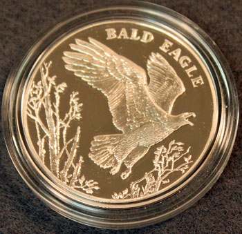 National Wildlife Refuge Centennial Medal 2003 Eagle reverse