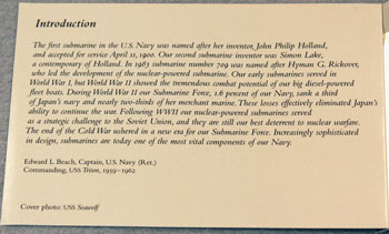 US Postal Service Submarine Stamp Booklet introduction