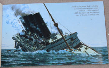 US Postal Service Submarine Stamp Booklet U-boat sinks RMS Lusitania