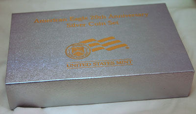 2006 American Eagle Silver Coins 20th Anniversary Collection outer box