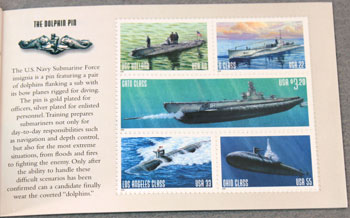 US Postal Service Submarine Stamp Book First Stamps